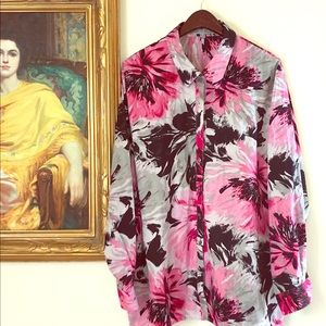 NWOT Nordstrom's Foxcroft Floral Shirt 22W